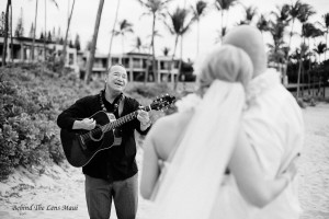 maui photography, maui weddings, wedding singer